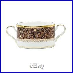 Noritake China Xavier Gold Cream Soup Cups, Set of 4