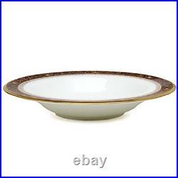 Noritake China Xavier Gold Soup Bowls, Set of 4