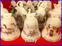 Noritake Christmas Bells Bone China Complete Set Of 13 Limited Collectors Series