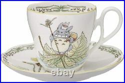 Noritake Coffee Tea Cup & Saucer Bone China 250cc 2 Set My Neighbor Totoro Japan