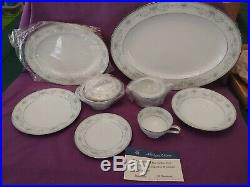 Noritake Colburn China Set of 12 Platters Bowls Plates Cups Cream & Sugar (G)