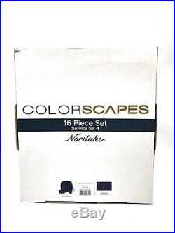Noritake Colorscapes 16pc Dinnerware Set, Service for 4 Navy