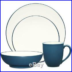 Noritake Colorwave Blue Coupe 48Pc Dinnerware Set, Service for 12