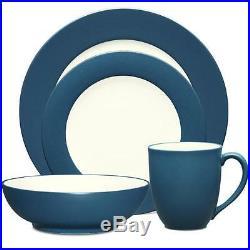 Noritake Colorwave Blue Rim 32Pc Dinnerware Set, Service for 8