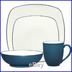 Noritake Colorwave Blue Square 48Pc Dinnerware Set, Service for 12
