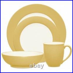 Noritake Colorwave Mustard Rim 48Pc Dinnerware Set, Service for 12