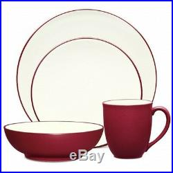 Noritake Colorwave Raspberry Coupe 32Pc Dinnerware Set, Service for 8
