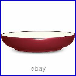Noritake Colorwave Raspberry Coupe Pasta Serving Bowl Set of 3