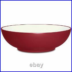 Noritake Colorwave Raspberry Coupe Round Vegetable Bowl Set of 3