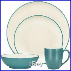 Noritake Colorwave Turquoise Coupe 32Pc Dinnerware Set, Service for 8