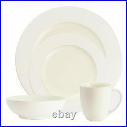 Noritake Colorwave White Rim 32Pc Dinnerware Set, Service for 8