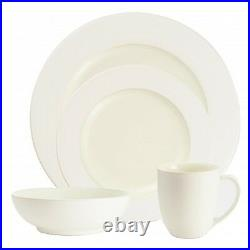 Noritake Colorwave White Rim 48Pc Dinnerware Set, Service for 12