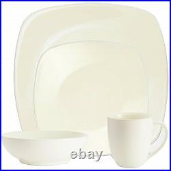 Noritake Colorwave White Square 48Pc Dinnerware Set, Service for 12