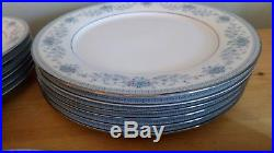 Noritake Contemporary China Blue Hill Dinner Set, 30pc, Great Condition