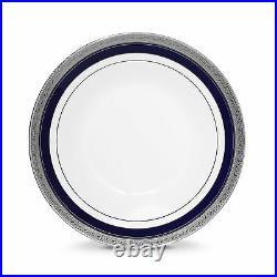 Noritake Crestwood Cobalt Platinum Soup Bowls, Set of 4