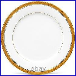 Noritake Crestwood Gold Dinner Plates, Set of 4