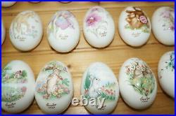 Noritake Easter Eggs, 2 3/4 Bone China, Set of 24 Eggs 1970's-80's 90's