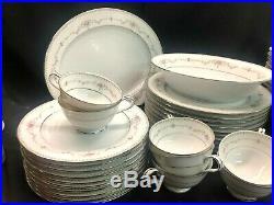 Noritake Fairmont China Dinnerware Set of 59 pieces! Perfect Condition