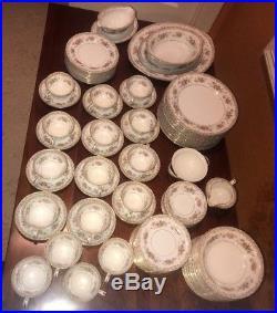 Noritake Fine China Dinnerware Somerset 86 pieces Vintage 1953 Beautiful Set