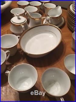 Noritake Fine China Essex Gold 4322 12 piece set. 96 pieces