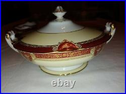 Noritake Fine China Graceland Service For 8 Settings Of 6pc 54 Pc Set Red & gold