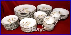 Noritake Fine China Japan #5414 WHEATON Golden Winter Wheat Dishes 70pc Set