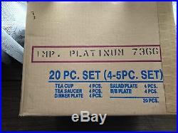 Noritake Fine China Model 7366 20M Ivory Imperial Platinum Set (Four Settings)