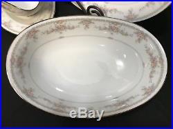 Noritake Fine China VERANDA #3015 4 Piece Serving Set Platter, Bowl ++
