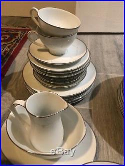 Noritake Fine China Whitebrook Service for 12 Vintage Full SET 6441 China 91 pcs