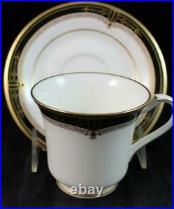 Noritake GOLD AND SABLE 5 Piece Place Setting Bone China MINT CONDITION