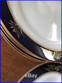 Noritake Gold And Cobalt China Legacy Mandalay 6 Settings & Serving + Extras