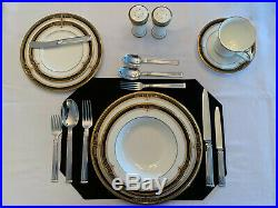 Noritake Gold and Sable #9758 Bone China Place setting for 6 Plus