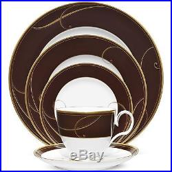 Noritake Golden Wave Chocolate 40Pc China Set, Service for 8