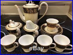 Noritake Goldlea 4793 Fine China coffee/tea set demitasse