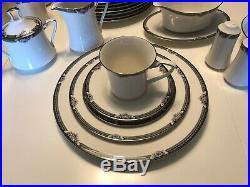 Noritake Halifax China 8 x 5 piece place settings, Teapot, Cream, Sugar+++