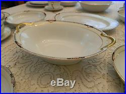 Noritake Hand Painted China Beechmont Set for 5 with4 Serving Pieces box 15-5