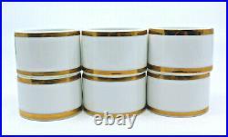 Noritake Heritage Contemporary Fine China Napkin Ring Gold 2982 Japan Set of 6