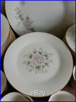 Noritake Ivanhoe 59 Piece China Dish Set Lot 12 Place Settings #7264
