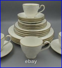 Noritake Ivory China HALLS OF IVY Gold Service for Four 20 Piece Set Used