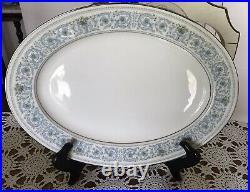 Noritake Ivory China -MONTELEONE 7569- Platinum Trim-Dinnerware Set For 8- 44 Pc