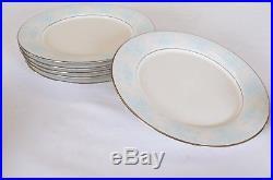 Noritake Ivory China Moonbeam Platinum Rim 38 Pcs Service for 6 Dinner Set etc
