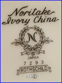 Noritake Ivory China ROTHSCHILD Rimmed Soup Bowls Set of 4