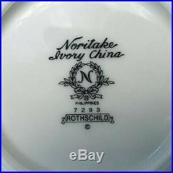 Noritake Ivory China Rothschild Berry Fruit Dessert Bowls Set of 7 Excellent