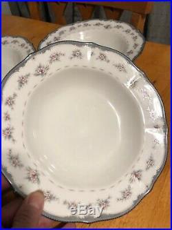 Noritake Ivory China Traviata 7327 Rim Soup Bowls Set Of Four