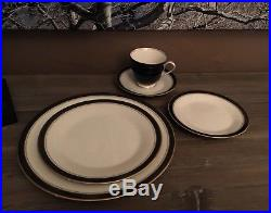 Noritake Ivory China, pattern Ivory and Ebony, 6 full sets-excellent condition