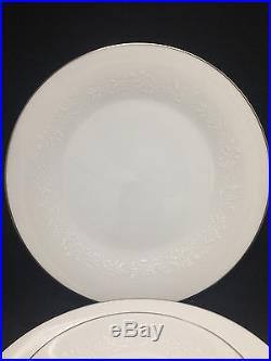 Noritake Japan 6450Q Reina White Floral Dinnerware China Set 80+ pcs