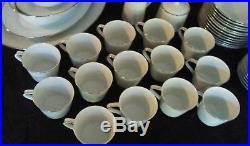 Noritake Japan 6450 Reina White Floral Dinnerware China Set 81 pcs