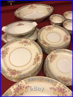Noritake Japan BLUELACE 59pc China Dinnerware Vintage Set For 8