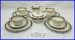 Noritake Japan Goldbeam Pattern Bone China Tea Set Cups Saucers 14 Pieces