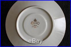 Noritake Japan Ivory China Victory White Gold Trim Complete Set Plates Teacups